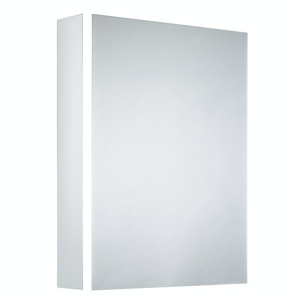 Mode Purcell Bluetooth diffused LED illuminated mirror cabinet 700 x 564mm with demister & charging socket