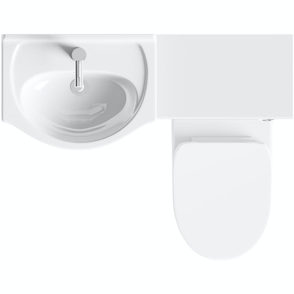 Orchard Eden white 1060mm combination with Eden back to wall toilet and soft close seat