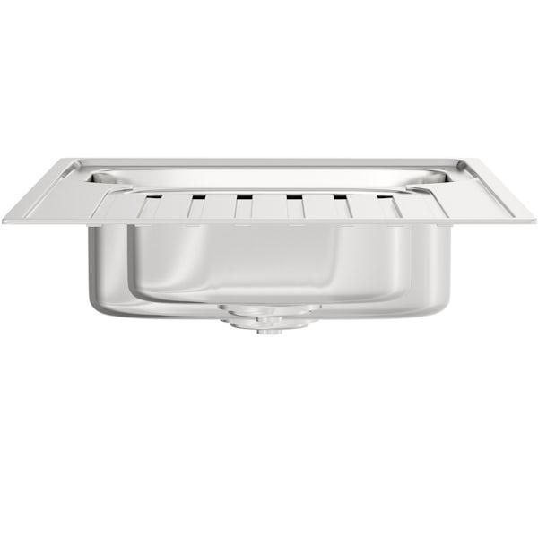 Bristan Inox easyfit universal kitchen sink 1.5 bowl stainless steel