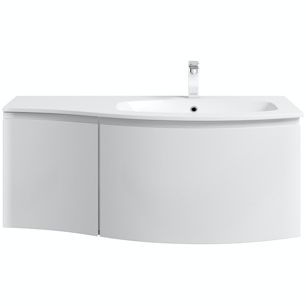 Mode Harrison snow right handed wall hung vanity unit 1000mm