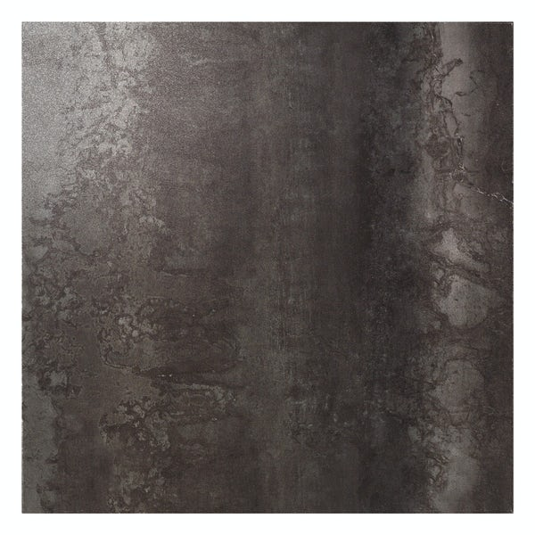 Cosmic black lappato textured wall and floor tile 600mm x 600mm