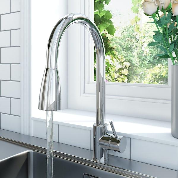 Schon Barra pull down kitchen mixer tap