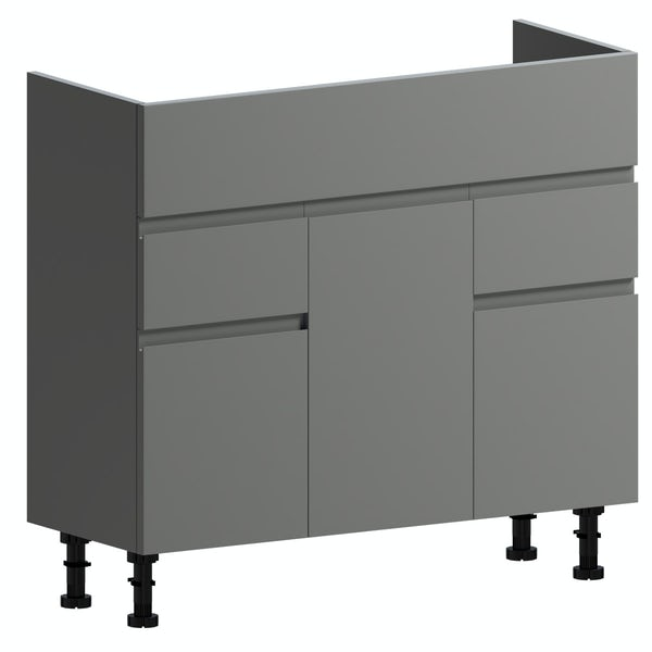 Orchard Wharfe slate grey floorstanding vanity unit 850mm