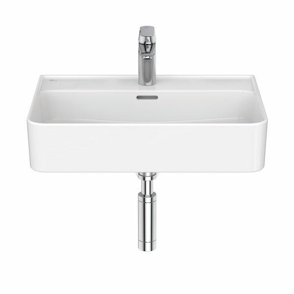 Ideal Standard Strada II 1 tap hole wall hung basin 600mm