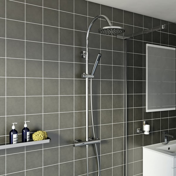Derwent Round Head Shower Riser System