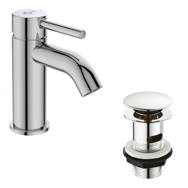 Ideal Standard Ceraline basin mixer tap with clicker waste