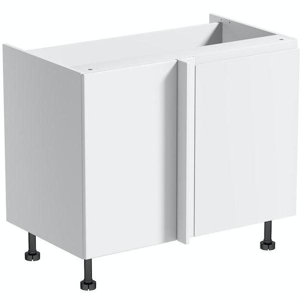 Schon Chicago white slab 1000mm corner base unit