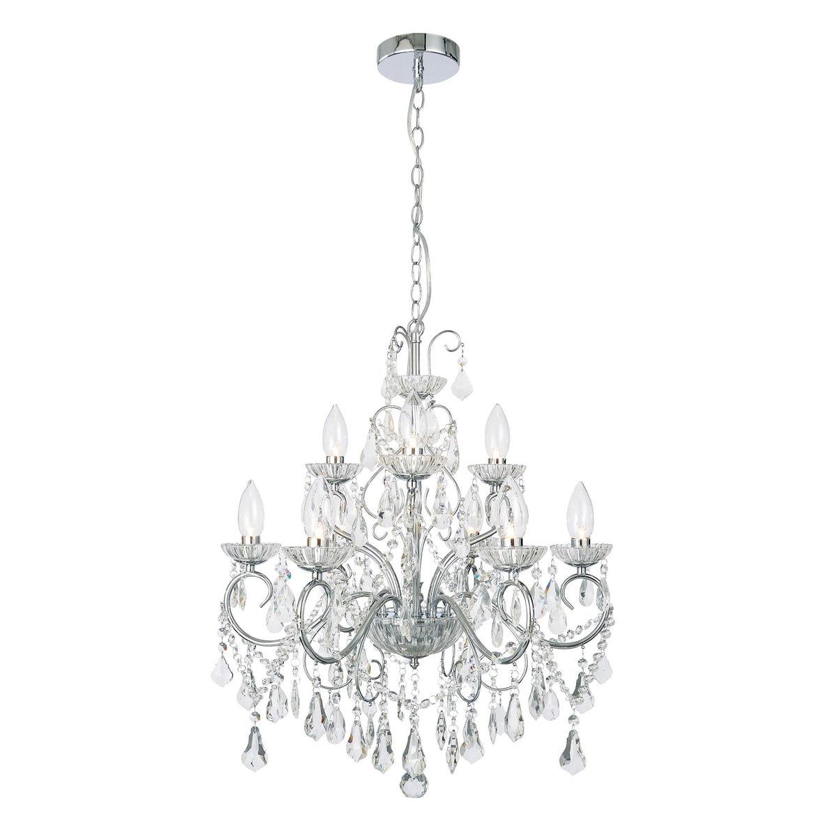 Forum Solen 9 light bathroom chandelier