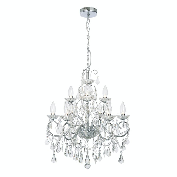 Forum Vela 9 light bathroom chandelier