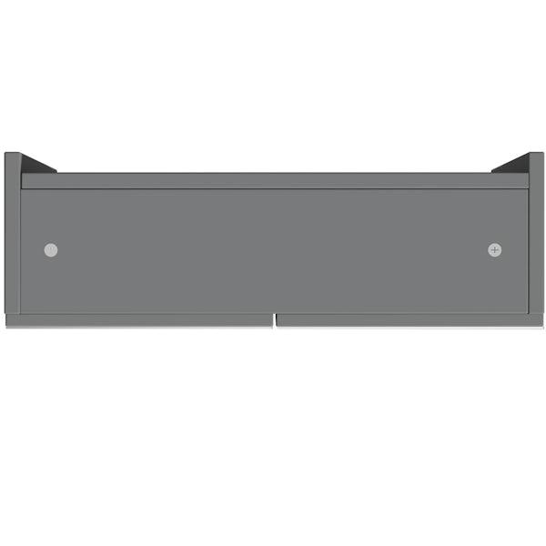 Reeves Wyatt onyx grey mirror cabinet 720 x 600mm