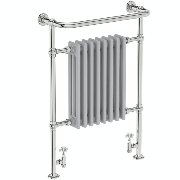 The Bath Co. Dulwich traditional satin grey radiator 952 x 659