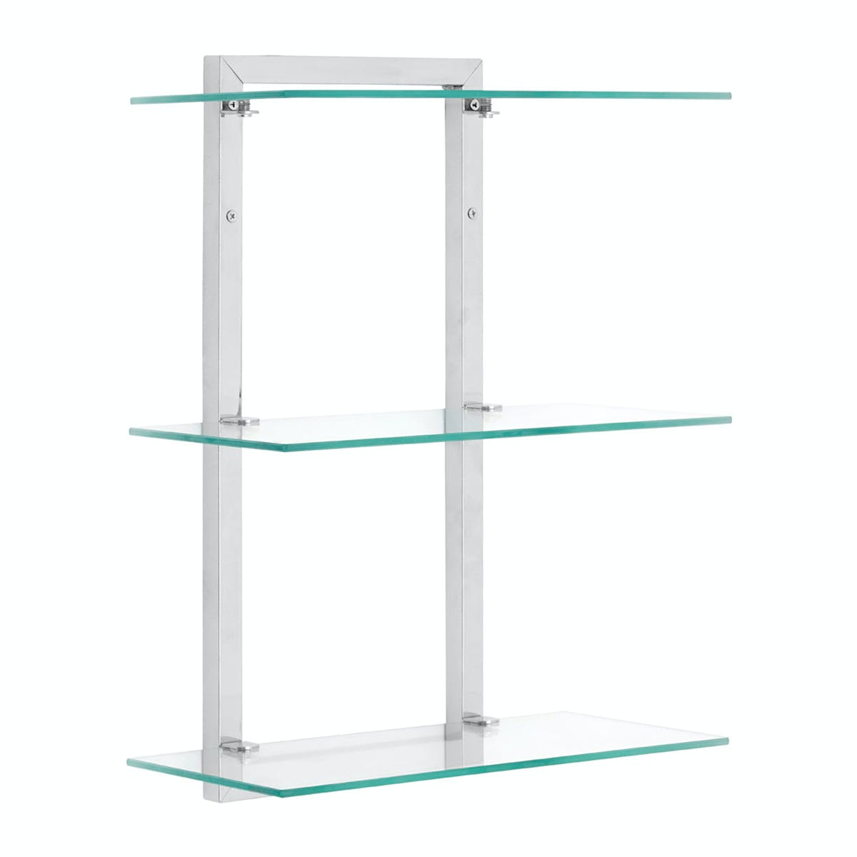 Accents Wall Mounted 3 Tier 46cm Glass Shelf Unit