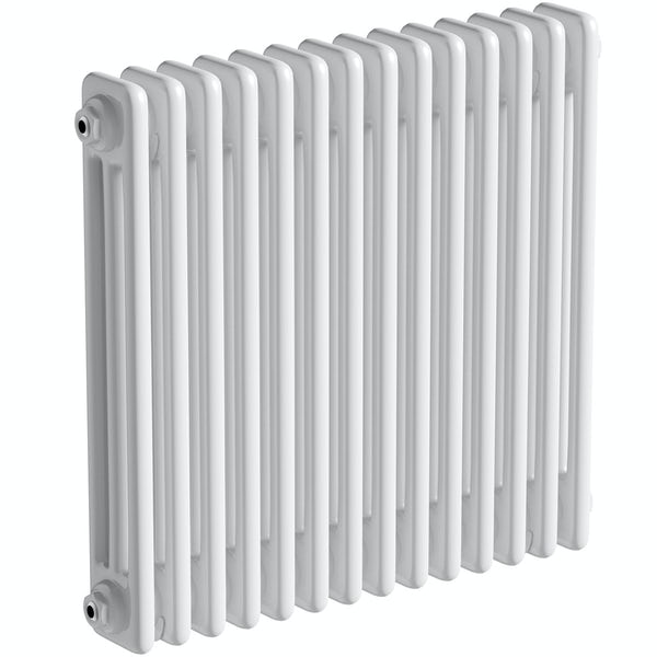 The Bath Co. Camberley white 3 column radiator