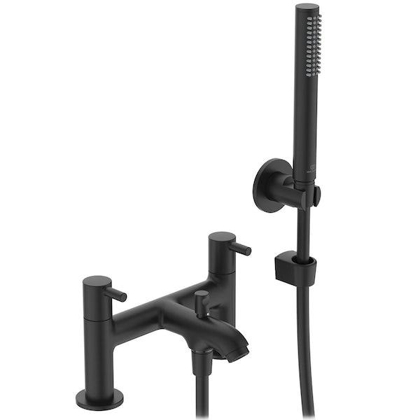 Ideal Standard Ceraline silk black bath shower mixer tap