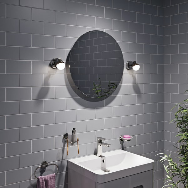 Forum Mesic round bathroom wall spot light