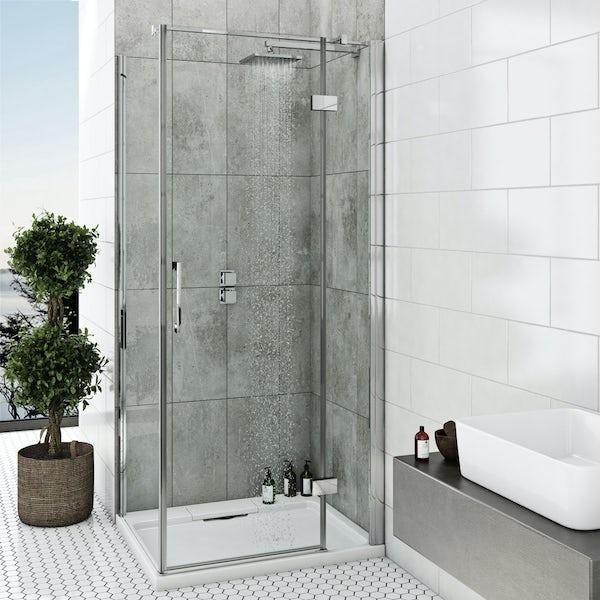 Mode Cooper square twin thermostatic shower valve