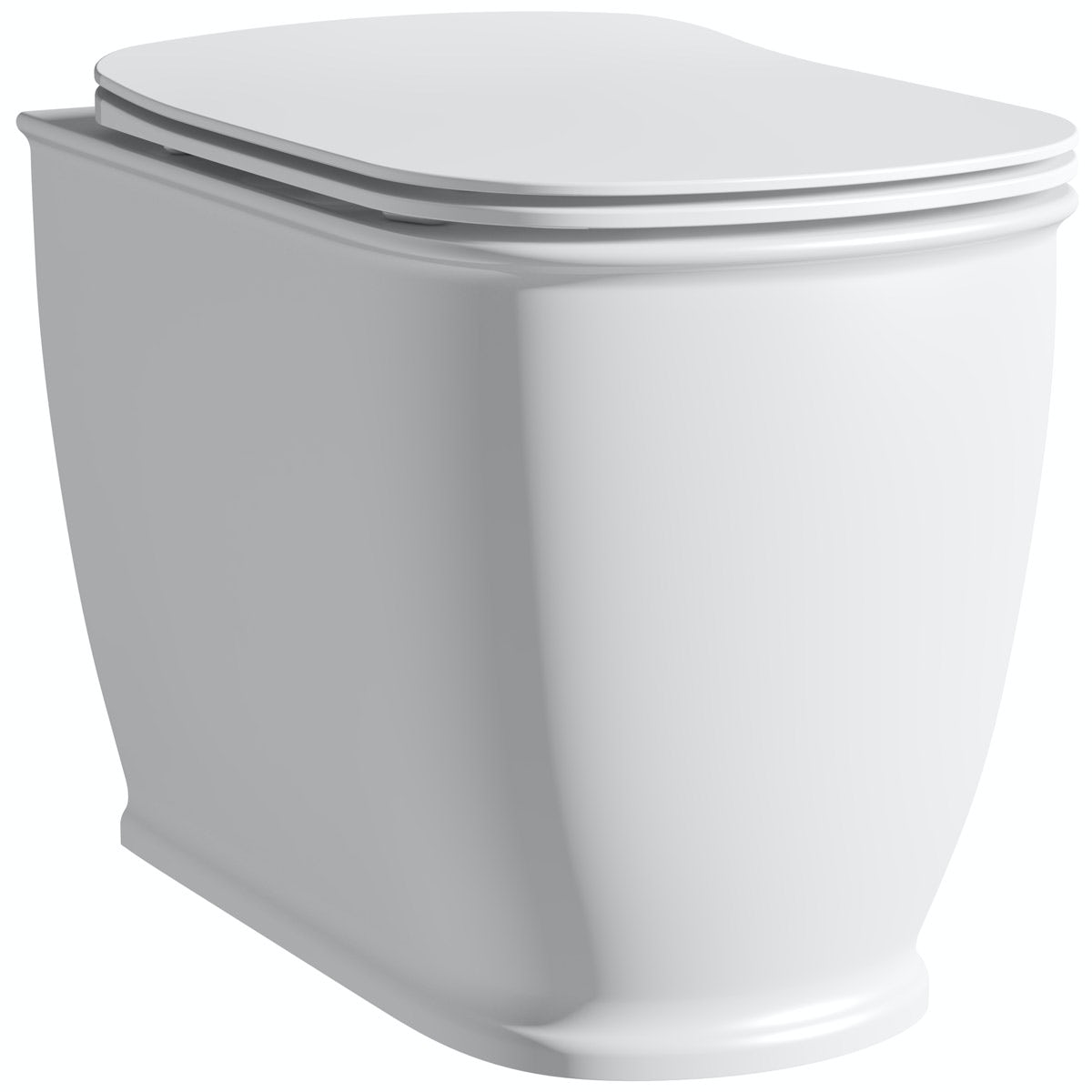 The Bath Co. Beaumont back to wall toilet with soft close seat