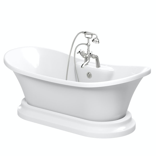 The Bath Co. Beaumont traditional freestanding bath and tap pack