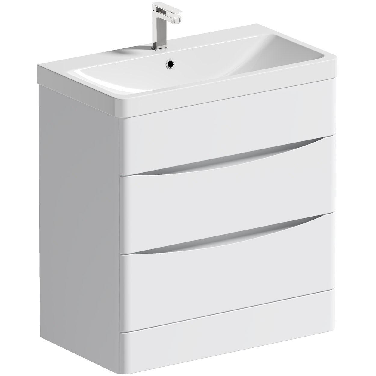 Mode Adler white 800mm floorstanding vanity unit and basin