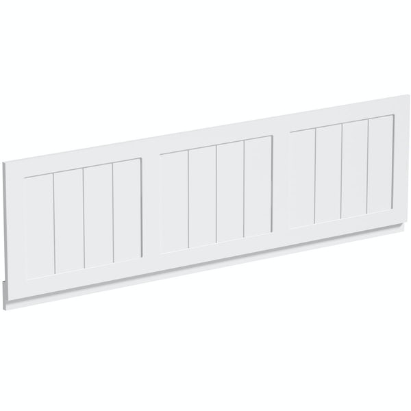 The Bath Co. Dulwich matt white washstand suite with straight bath 1700 x 700mm