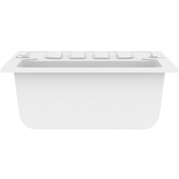 Schön Monte chalk white 1.0 bowl reversible kitchen sink