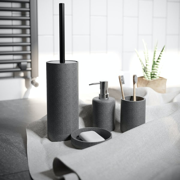 Accents dark grey soap dispenser