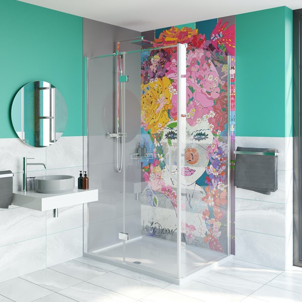 Artist Collection Gorgeous Grey acrylic shower wall panel 2440 x 900mm