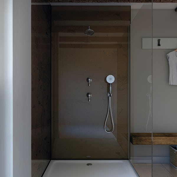 Showerwall Oxidised Copper waterproof proclick shower wall panel