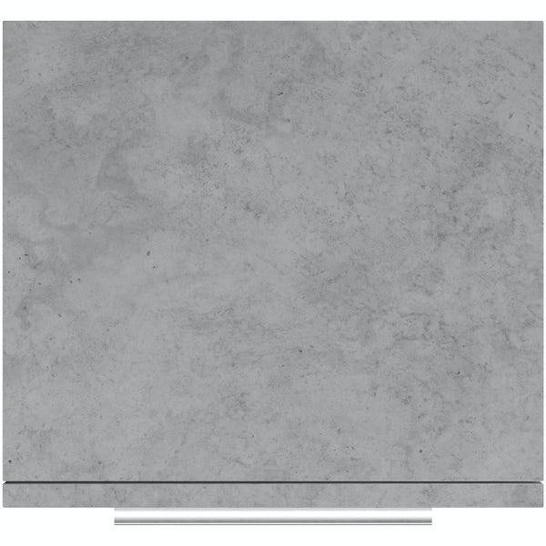 Mode Morris dark concrete grey wall hung cabinet 660 x 400mm