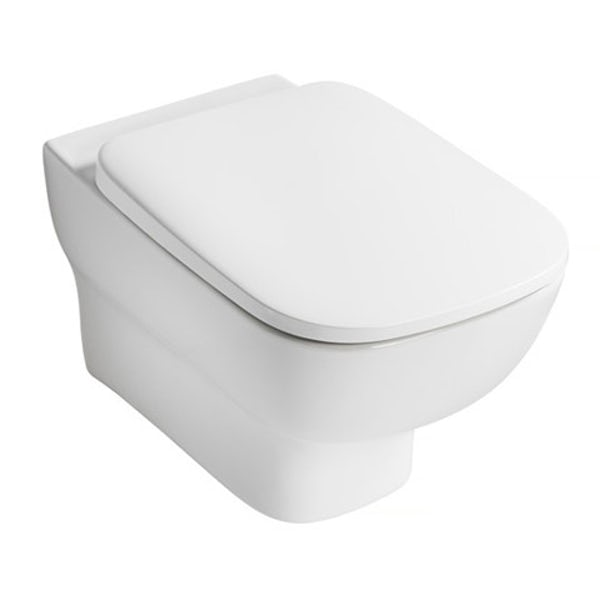 Ideal Standard Studio Echo wall hung toilet with soft close seat, frame and push plate