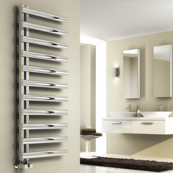 Reina Cavo brushed stainless steel designer radiator