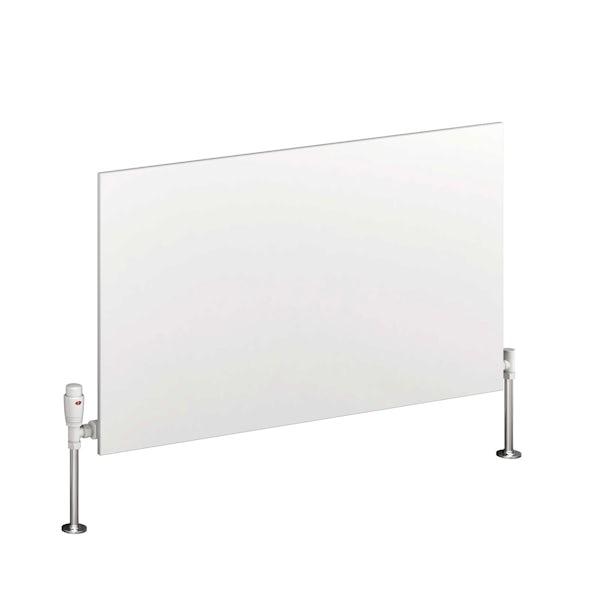 Reina Slimline white horizontal steel designer radiator
