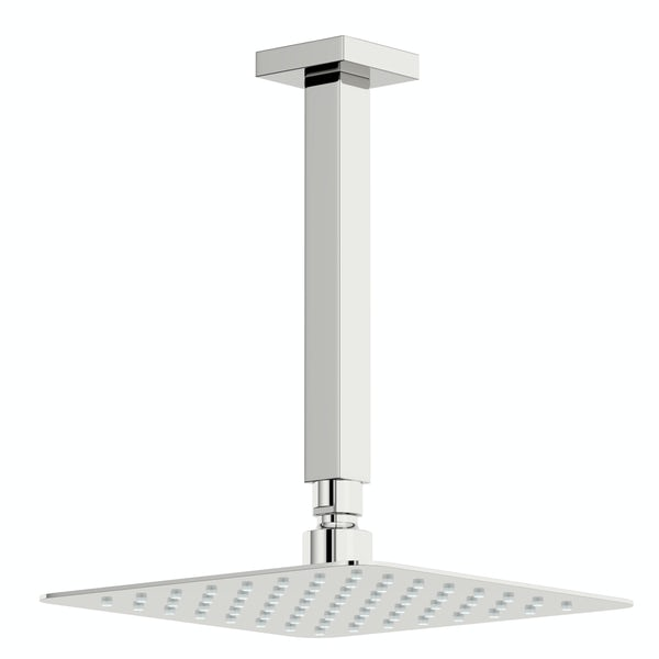 Kirke Connect concealed thermostatic mixer shower with ceiling arm and handset