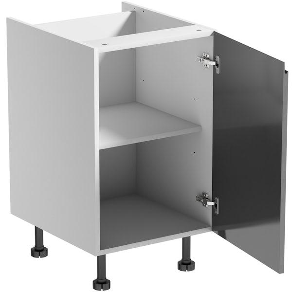 Schon Chicago mid grey handleless base unit