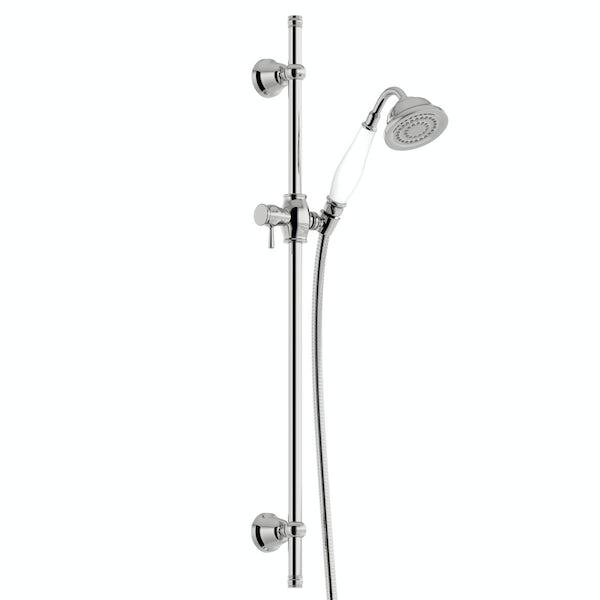 The Bath Co. Dulwich traditional sliding shower rail kit