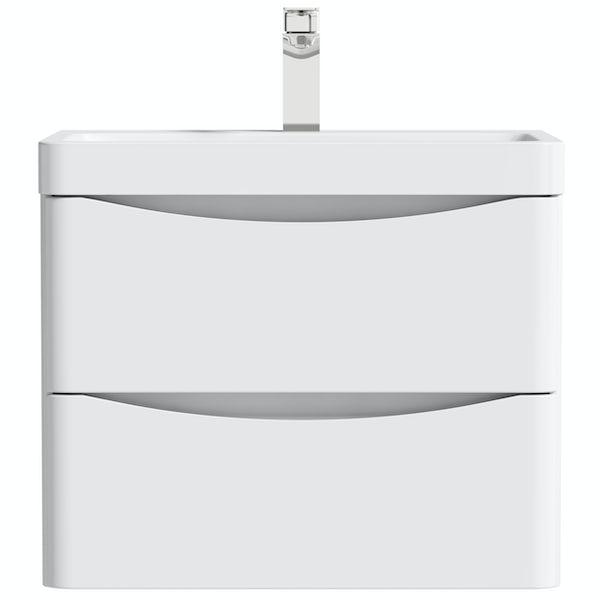 Mode Ashida white wall hung vanity unit and basin 600mm