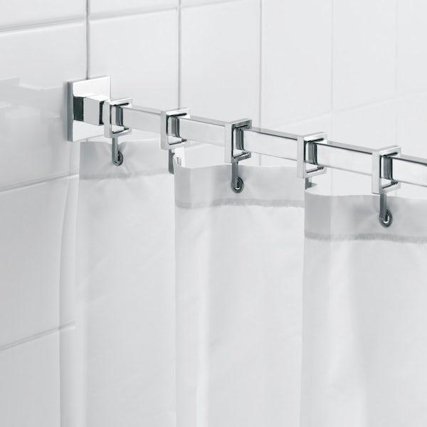 Croydex Luxury square shower curtain rail