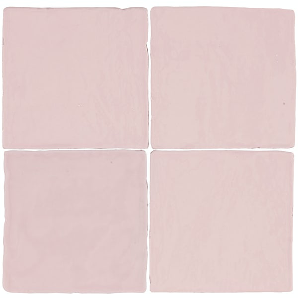 Marseille pink mix gloss wall tile 100mm x 100mm