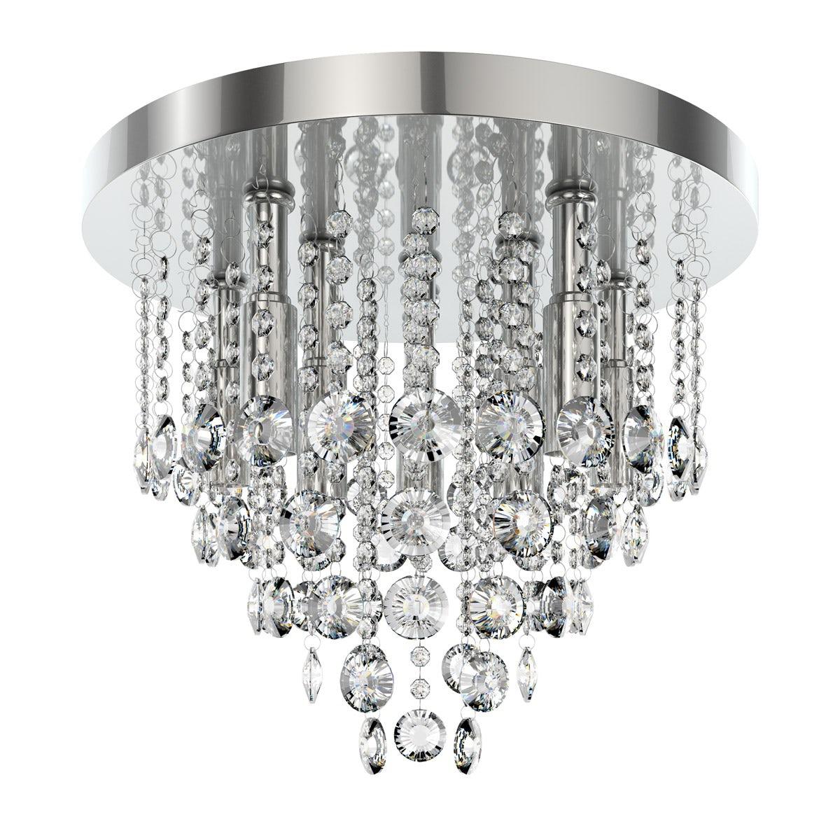 Forum Lenah 380mm flush bathroom ceiling light