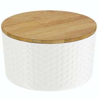 Orchard Contour white storage jar small