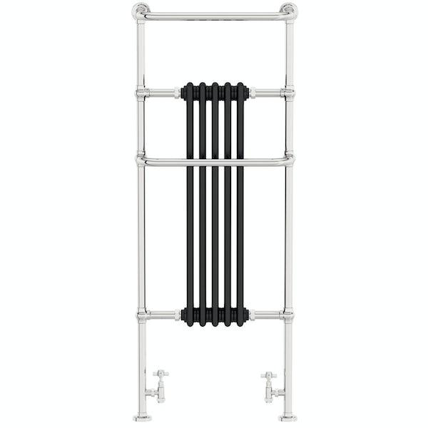 The Heating Co. Santa Fe black traditional radiator 1500 x 599