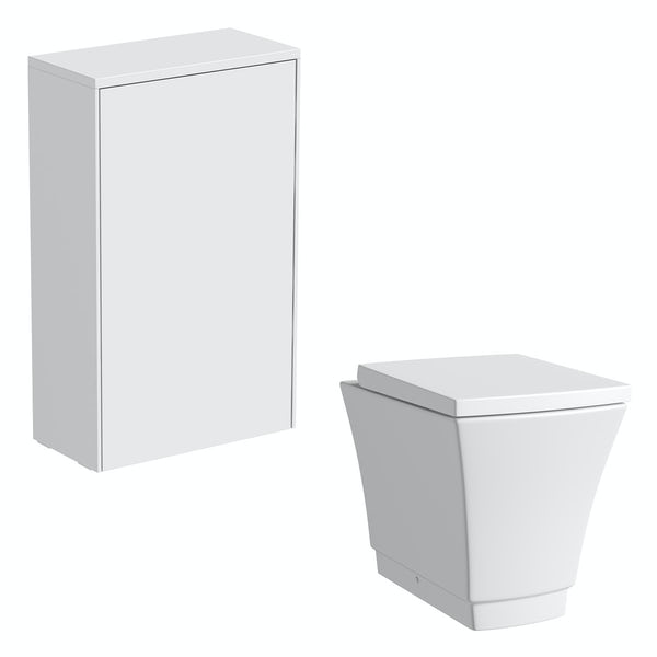 Mode Austin white back to wall unit and toilet with seat
