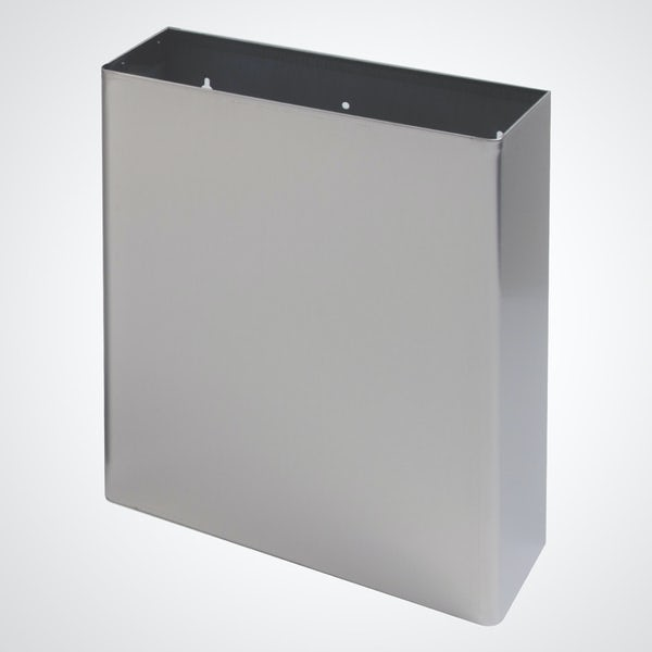 Dolphin commercial stainless steel surface mounted bin 24 litres