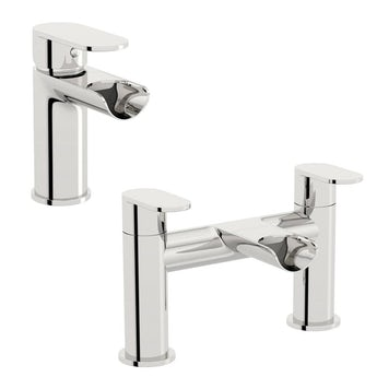 Orchard Wharfe waterfall basin and bath mixer tap pack