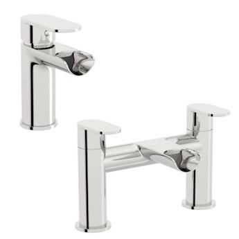 Orchard Wharfe waterfall basin and bath mixer tap pack