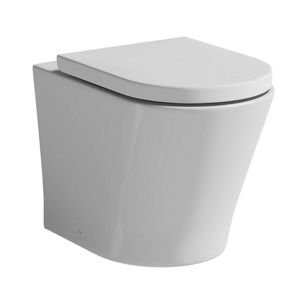Mode Tate rimless back to wall toilet with soft close seat