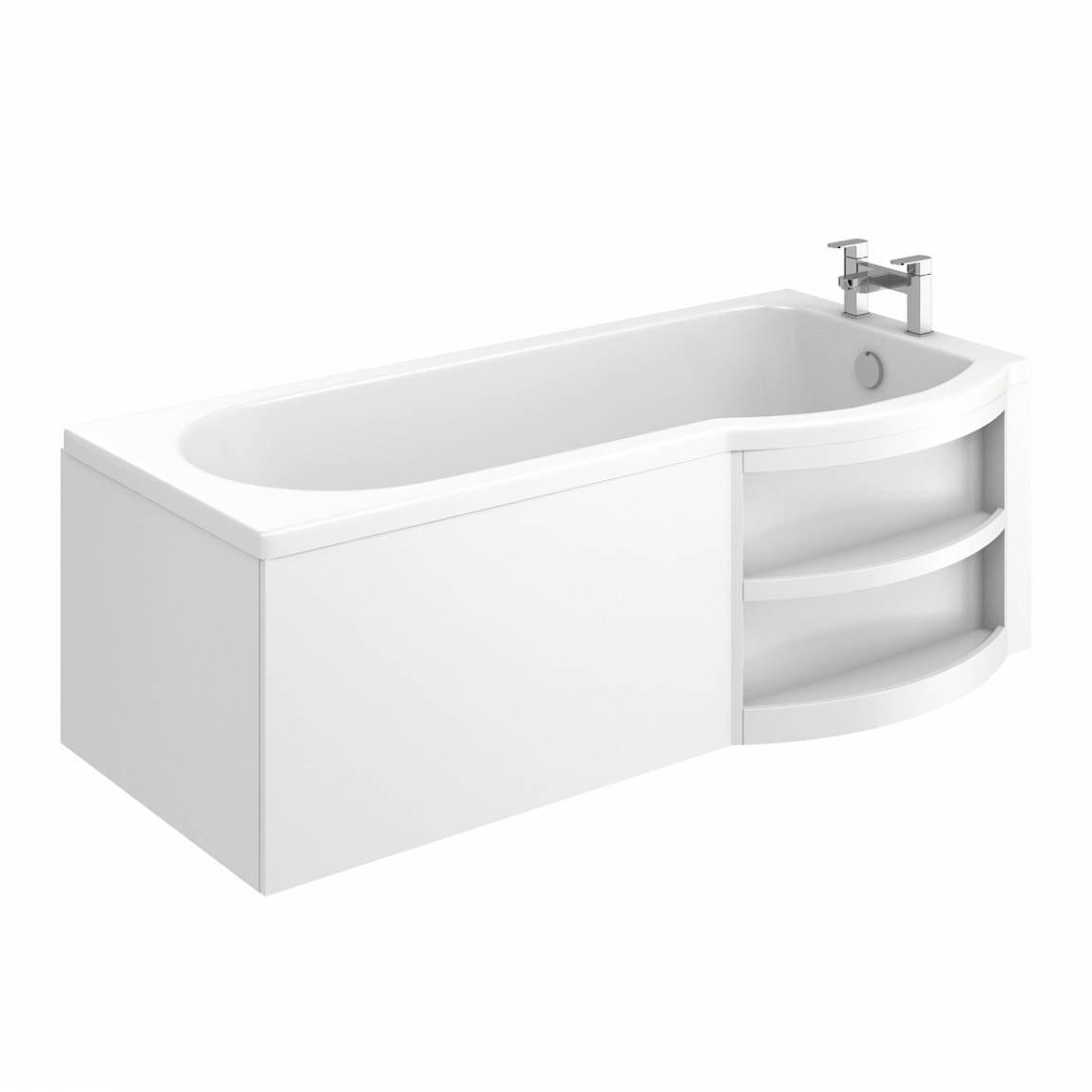 MySpace Eco Shower Bath RH with Storage Panel