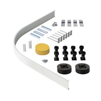 Orchard Riser kit for quadrant and offset quadrant stone shower trays
