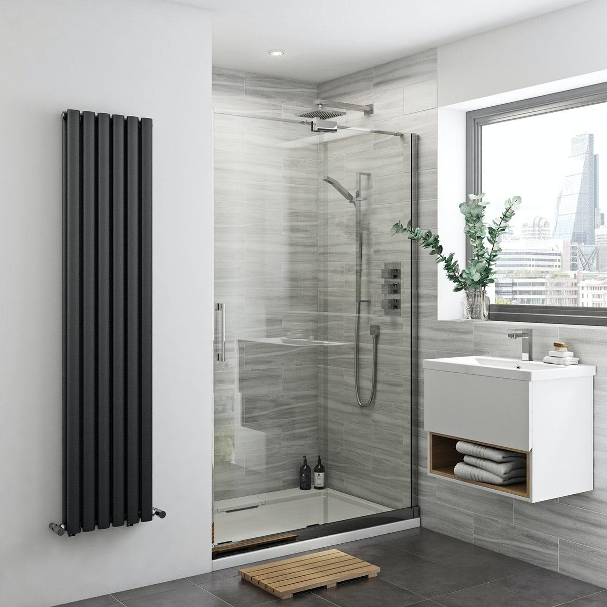 Carter 8mm easy clean right handed sliding shower door