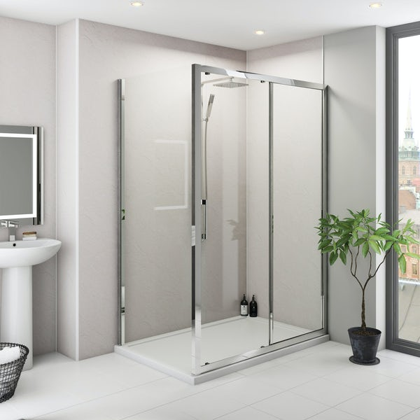Multipanel Classic Riven Marble Hydrolock shower wall panel 598